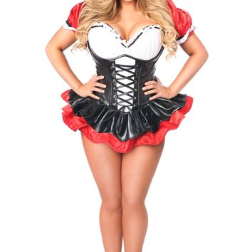 Top Drawer Premium Red Hooded Corset Dress Costume