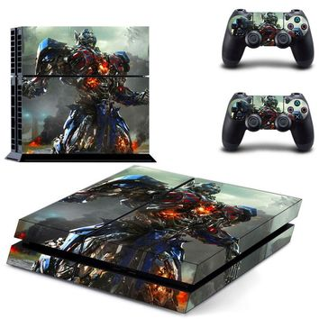 OSTSTICKER Optimus Prime Robot Vinyl Skin Sticker For PS4 Console For Sony Palystation4 Controller Decal