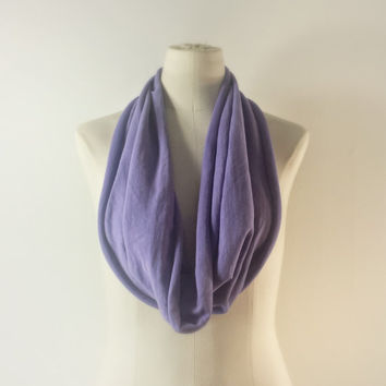 VIOLET LAVENDER Cowl Neck Scarf - Infinity Scarf - Cotton Scarf - Available in Many Colors