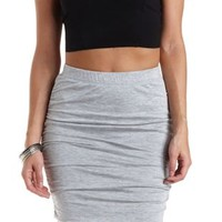 Ruched Bodycon Pencil Skirt by Charlotte Russe