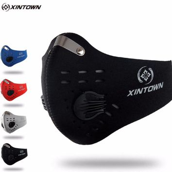 XINTOWN Men/Women Activated Carbon Dust-proof Cycling Face Mask Anti-Pollution Bicycle Bike Outdoor Running mask face shield CM2