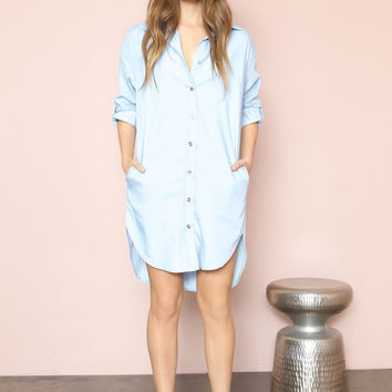 Charlie Chambray Shirt Dress