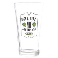 SHAMELESS ALIBI ROOM PINT GLASS