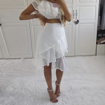 White Jasmina Two-Piece Dress