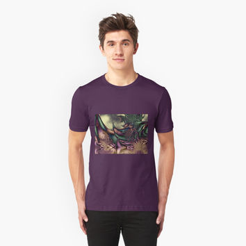 'Flora Fantasia Abstract Fractal' T-Shirt by gabiwArt