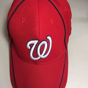 WASHINGTON NATIONALS GEICO SGA RED STRETCH FIT MLB HAT SHIPPING