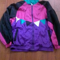 Windbreaker Size 1X Womens Fresh Prince 80s 90s Swag Vintage