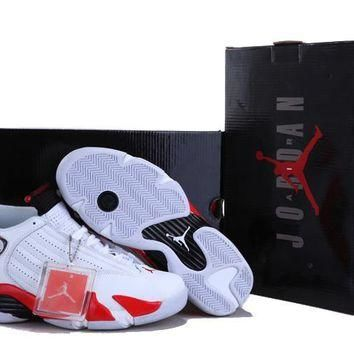 AIR JORDAN 14 (WHITE / RED)