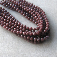 "Jewelry Making Beads, Jade Beads, Craft Supplies, Chocolate Jade Beads, Jewelry Supply, Beads for Designing, Round Beads, 15"" Strand, 8mm"