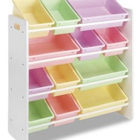 Whitmor Kids Storage Collection 6437-1523-DS 12 Bin Organizer Pastel