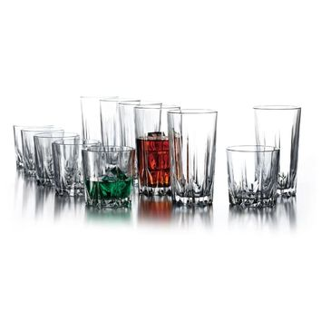 Florence 12-piece Glassware Set | Overstock.com Shopping - The Best Deals on Tumblers
