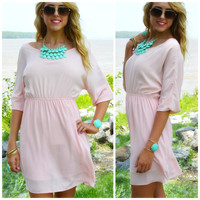 Loveland Peach Fit & Flare Dress