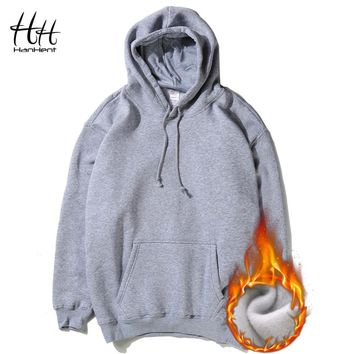 HanHent 2016 Autumn Winter Casual Hoodies Men Fleece Thick Man's Pullover Streetwear Clothing Fashion Fitness Sweatshirts Boys