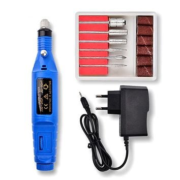 Professional Stainless Steel Manicure Pedicure Electric Nail Drill