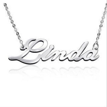 DIY Name Necklace Custom By Your Require 925 Sterling Silver Necklace Fine Jewelry