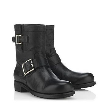Jimmy Choo Women Fashion Leather Short Boots Shoes-1