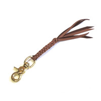 Braided Leather Keyfob