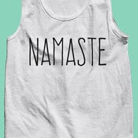 Namaste American Apparel Workout/Yoga Tank Top//Fitness Apparel - Great Gift for Her, Him, Best Friend, Mother!  Mother's Day!  Yoga Student