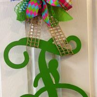 Painted Wooden Monogram Door Decor