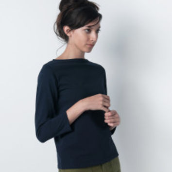 MILL MERCANTILE - Orcival - Solid Long Sleeve Tee in Marine