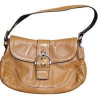 Vintage Coach Soho Hobo Tan Brown Leather Handbag Purse F12301