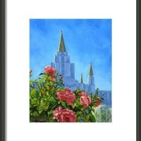 Oakland California Lds Temple Framed Print By Shalece Elynne