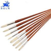 High Quality Super Long Stroke Bristle Oil Paint Brush Acrylic Painting Brush Pointed Round Brush Art Supplies pinceles oleo