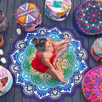 150cm Large Beach Mat Swimsuit Bohemian Boho Henna Mandala Cover-up Sexy Shawl Lie On
