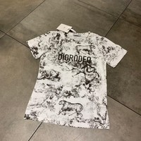 DCCK DIOR 2019 early spring new ink painting animal design short-sleeved T-shirt