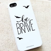 Divergent Inspired Be BRAVE with sparrow iphone 5/5s cell case