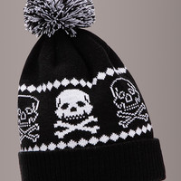 Bad To The Bone Knit Skull Beanie