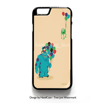 Monster Inc Baloon for iPhone 4 4S 5 5S 5C 6 6 Plus , iPod Touch 4 5  , Samsung Galaxy S3 S4 S5 Note 3 Note 4 , and HTC One X M7 M8 Case Cover
