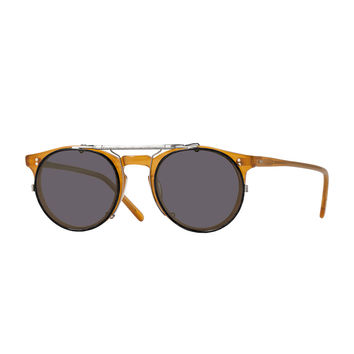 Men's Sir O'Malley 45 Flip-Clip Sunglasses, Pewter - Oliver Peoples - Pewter