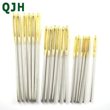 18pcs 3 size Large Sewing Needles Gold Eye Needle Embroidery Tapestry Hand Sewing Tools Wool DIY sewing accessories