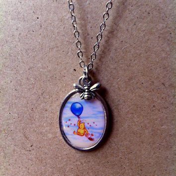 Winnie The Pooh and Piglet Up In The Air necklace