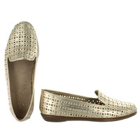 Aerosoles Women's YOU BETCHA gold leather slip-on flats YOUBETCHA GLD