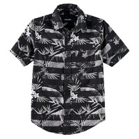 Tony Hawk Paradise Printed Button-Down Shirt - Boys 8-20, Size: