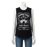 Recyled Karma ''Johnny Cash'' Muscle Tee - Juniors