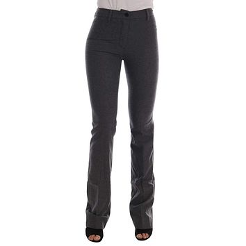 Ermanno Scervino Gray Wool Stretch Slim Pants