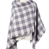 Glen Plaid Knitted Shawl/Scarf * free shipping *