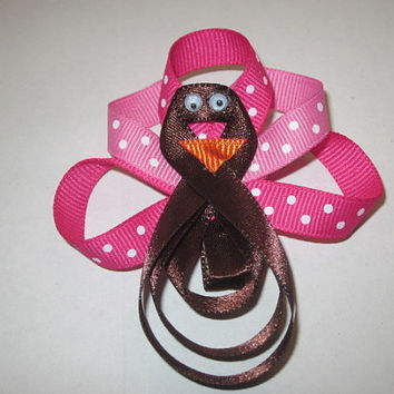 Thanksgiving Holiday Hairbow Turkey Hairbow By Sweetpeas Bows & More