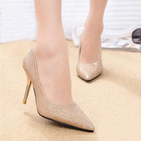 Women's High Heels 2016 Candy Color Women Pumps Sexy Ladies Shoes Pointed Toe Shoes Women Fashion Thin Heel Sapatos Femininos