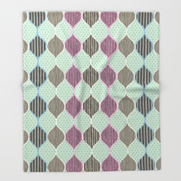 Harlequin Vintage Fantasy Throw Blanket by Octavia Soldani | Society6