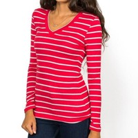 Soft Striped Long Sleeve Top