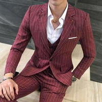 Mens Stripe Suit