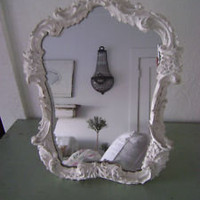 RACHEL ASHWELL SIMPLY SHABBY CHIC WHITE FRENCH DRESSER MIRROR