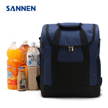 SANNEN 25L Lancheira Thermo Lunch Bags Cooler Insulated for Women Kids Thermal Bag Lunchbox Food Picnic Tote Handbags Red Navy