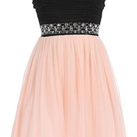 Ultimate Love Dress | Peach Blush Tulle Homecoming Dresses | RicketyRack.com