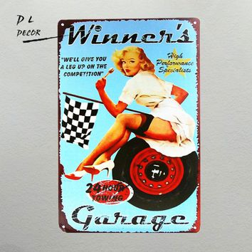 DL-Christmas decoration!!! Garage Service with a Smile, Tin/Metal Sign, Gas Oil, Man Cave