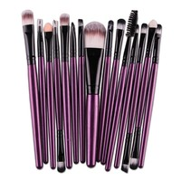 15 pcs/Sets Makeup Brushes Set Eye Shadow Pro Foundation Eyebrow Lip Brush Pro Makeup Brushes For Women Lady Purple Color H7JP